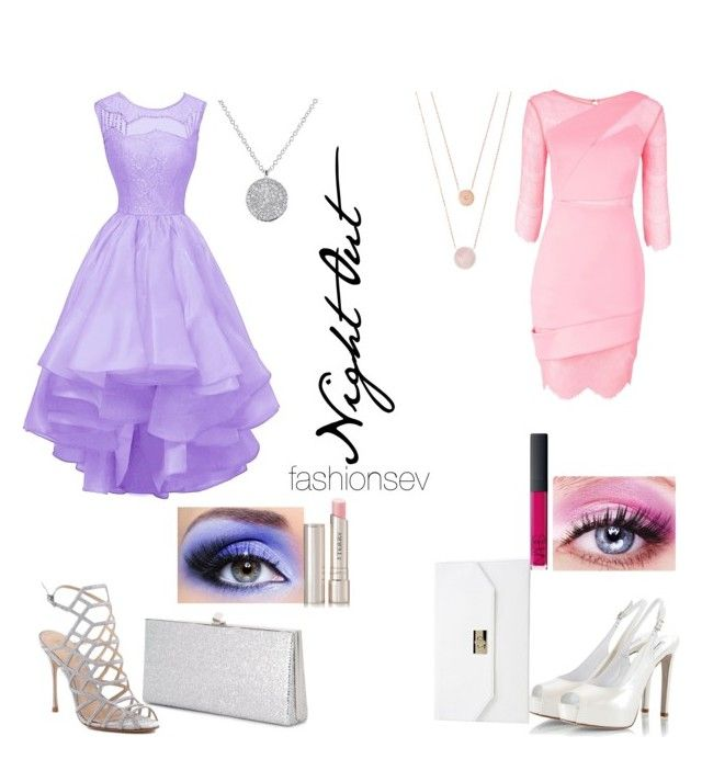 """""""Night Out: Challenge #1"""" by fashionsev ❤ liked on Polyvore featuring Three Floor, Schutz, Fratelli Karida, Jimmy Choo, Boohoo, Anne Sisteron, Michael Kors, By Terry, NARS Cosmetics and Pink"""