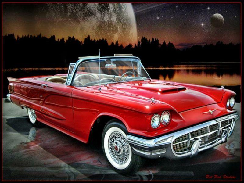 58 TBird Cars Ford HD Wallpaper