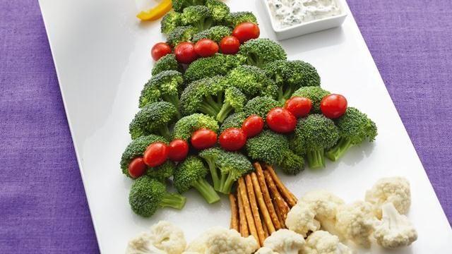 Christmas Veggie Plate