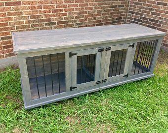 Wooden Double Dog Kennel - DIY Plans - Medium size #dogdiy ...