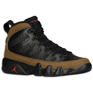 b47f1a9359f Jordan Retro 9 - Men's Black/Varsity Red/Olive | Width - D - Medium ...