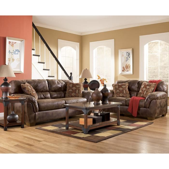 2 Piece Frontier Canyon Brown Living Room Set Nebraska Furniture Mart Living Room Sets Furniture Leather Living Room Set