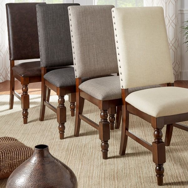 Bring A Regal Yet Contemporary Look To Your Dining Area With This Set Of  Two Upholstered