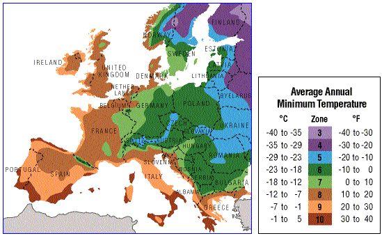 Plant Hardiness Zones Europe Map Urban Homesteading