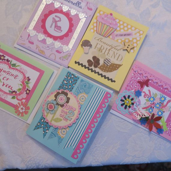 Friendship Greeting Card Lot Set of 5 great for by WhackyShack