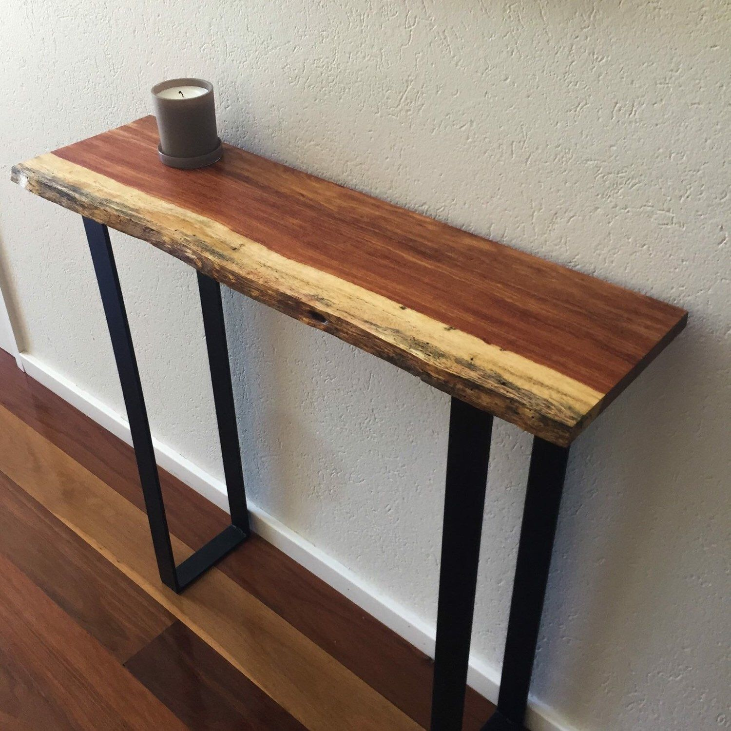 metal hall tables. Custom Hall Table With Live Edge Top And Metal Legs Finished Delivered. Last Few Tables I
