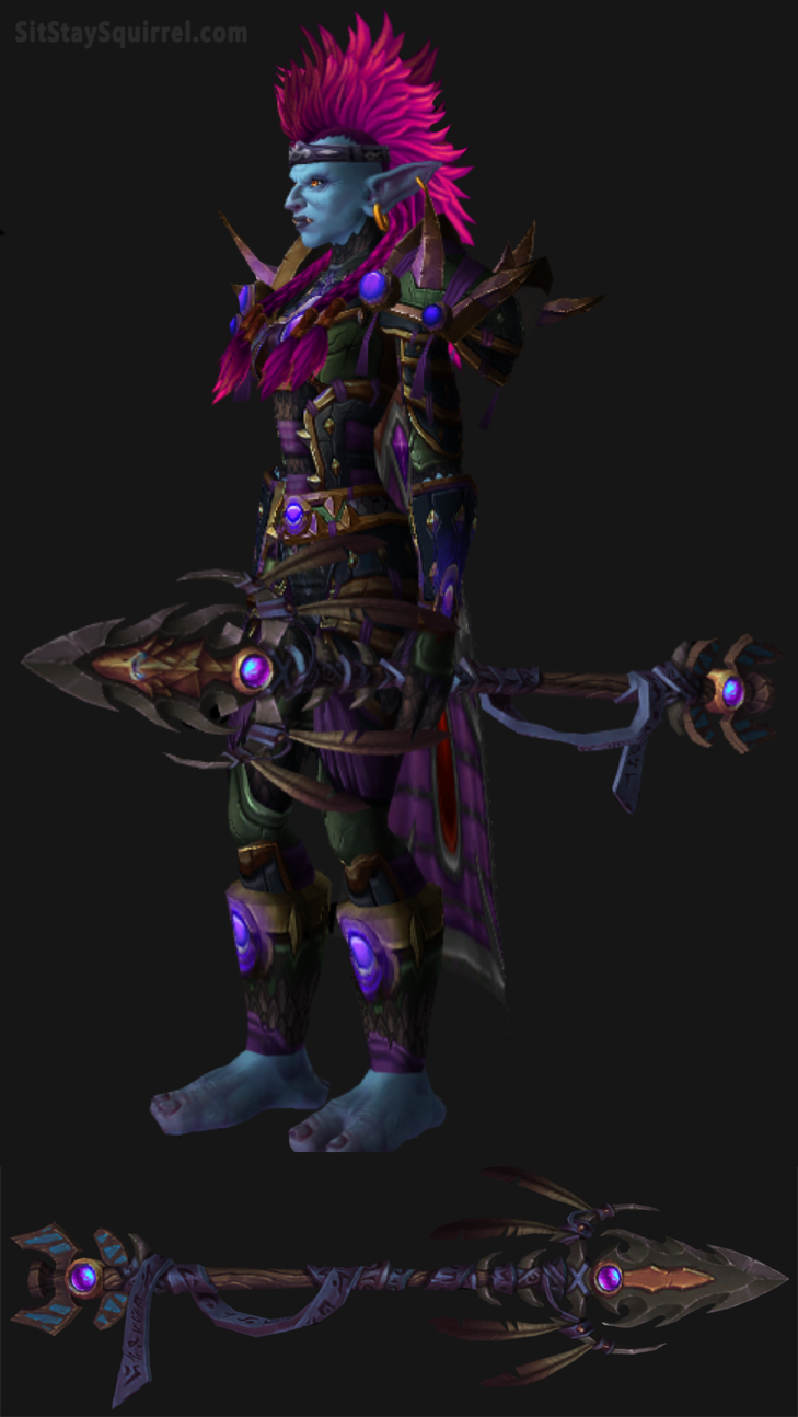 Troll Female Survival Hunter Artifact Set Transmog Survival