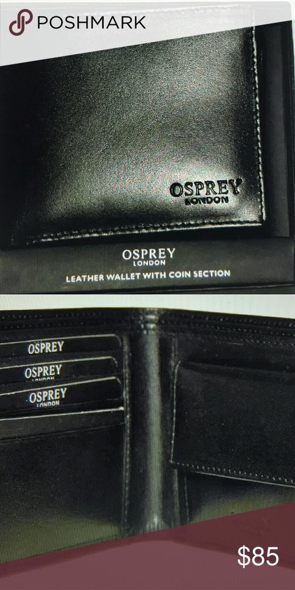 Mens Osprey London Luxury Leather Wallet