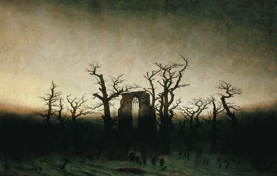 Caspar David Friedrich, L Abbaye dans la forêt (1809-1810). Huile sur toile (Staatliche ...