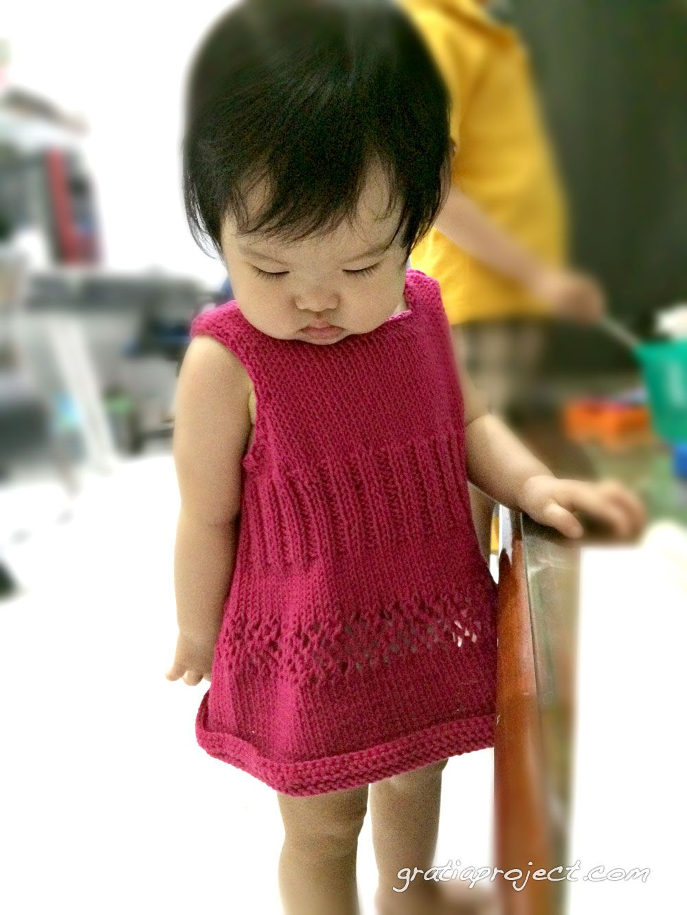 easy-baby-dress-knitting-pattern | Knitting Pattern And Ideas ...