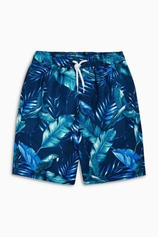 8118fc462d8f0 Buy Blue Hibiscus Print Swim Shorts (3-16yrs) from the Next UK online