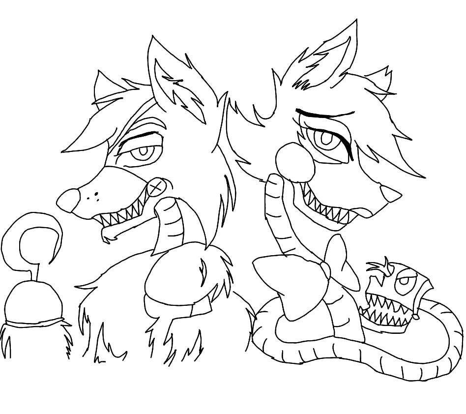 Foxy X Mangle Coloring Pages