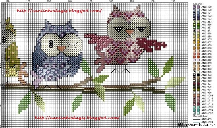 Row of Owls 1/2
