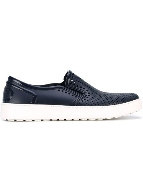 560ef04a43c72 Salvatore Ferragamo perforated slip-on sneakers   Shoes   Pinterest ...