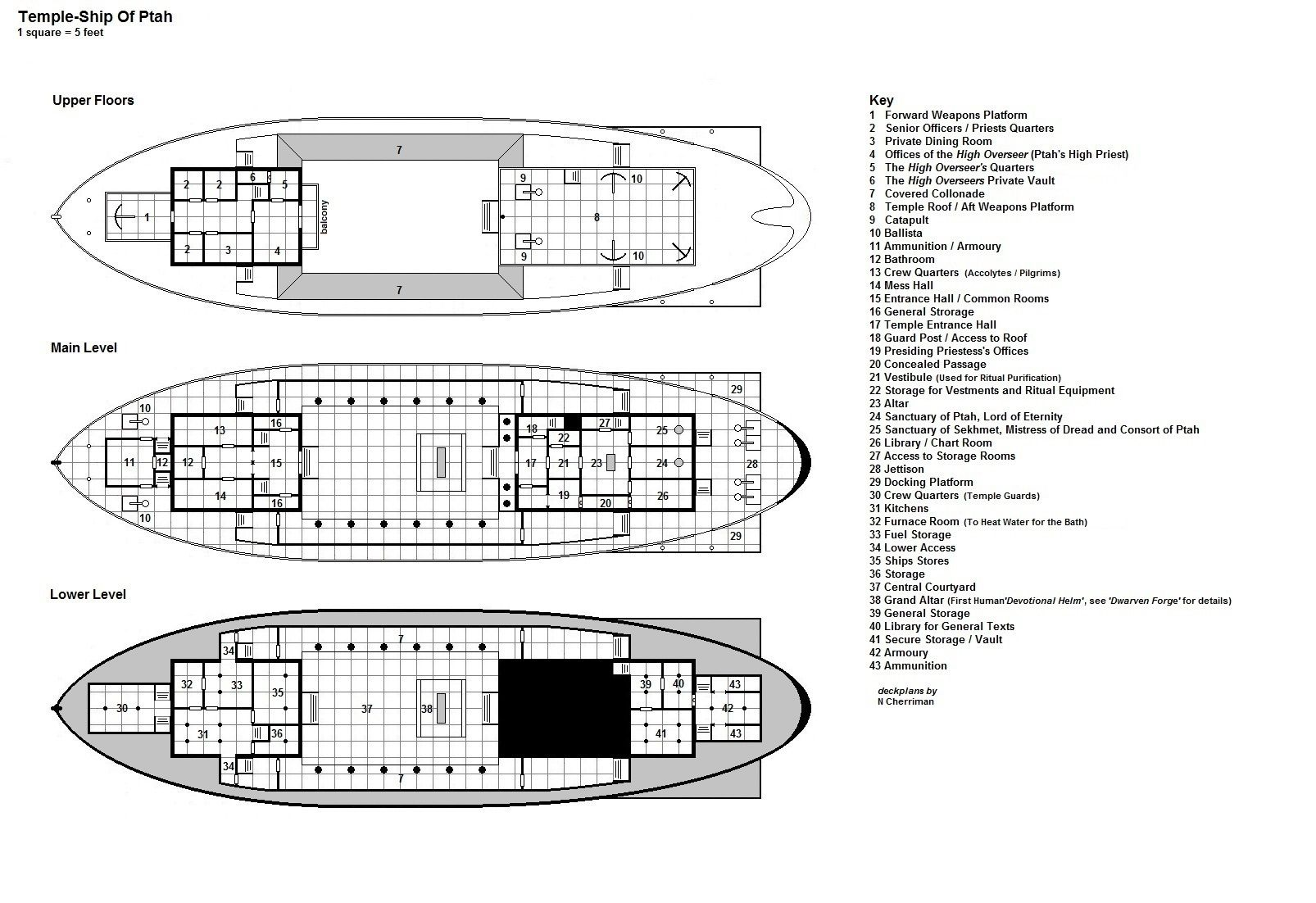 Temple Ship Deck Plans Building Layout Home Brewing