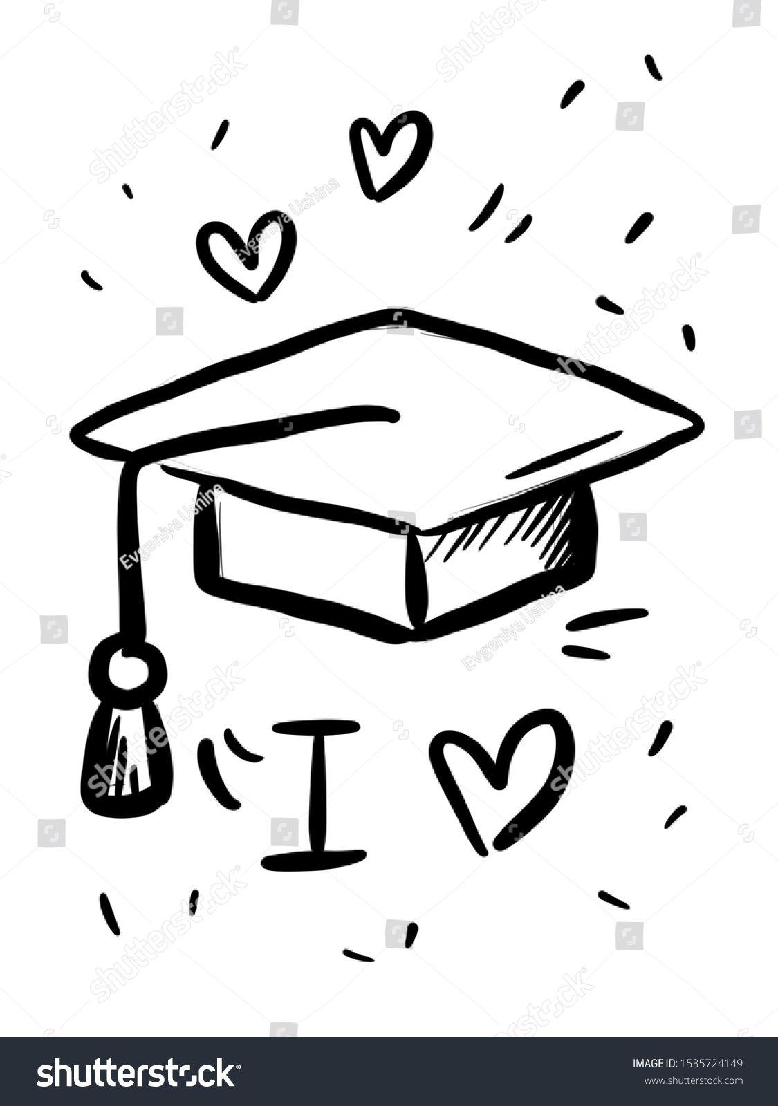 Academic Education Graduation Hat Line Icon Student Graduation Cap Education Icon Academic University Hat Illust Education Icon Graduation Hat Line Icon