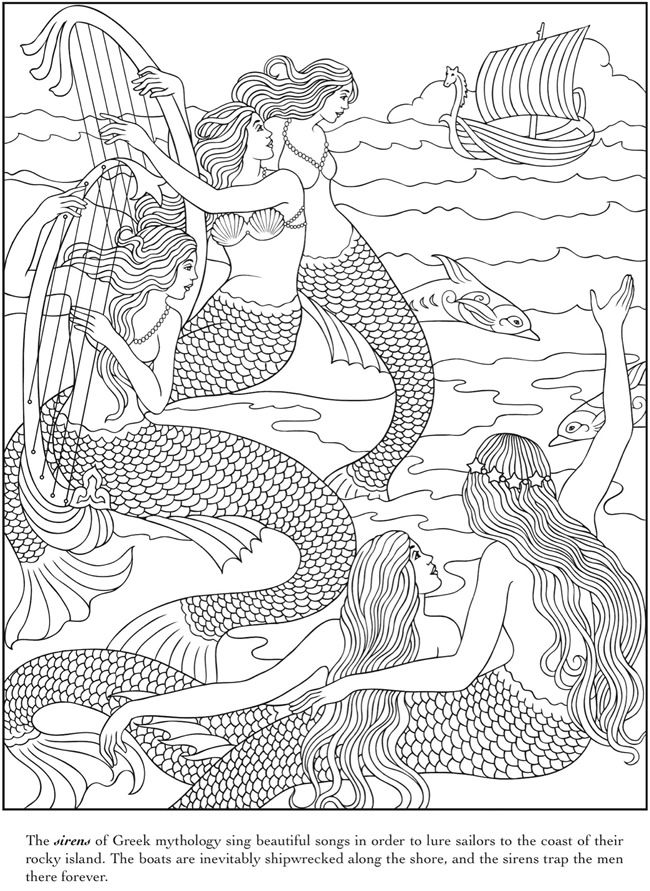 wwwdoverpublications zb samples 481697 cb051bhtm - new little mermaid swimming coloring pages