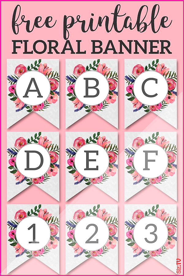 Floral Alphabet Banner Letters Free Printable Floral Alphabet Banner Letters Free Printable Bringing Back the Peace bringingbackthepeace Printables Love Floral Alphabet B...