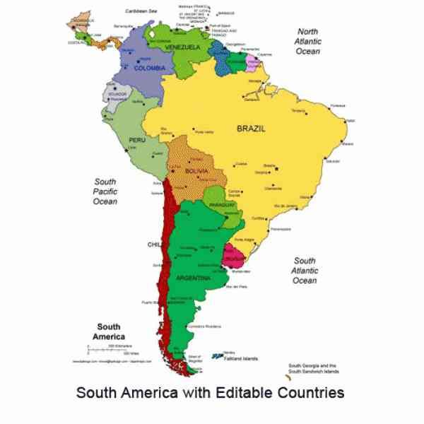 Blank Map Of South America -   holidaymapq/blank-map-of - latin america blank map