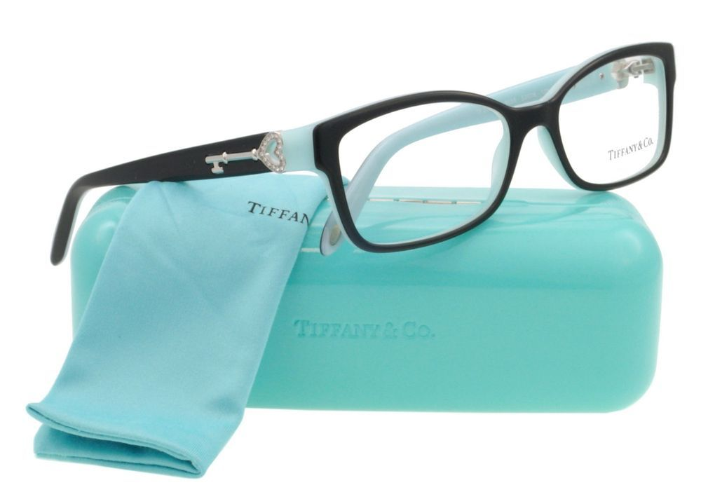 NEW* TIFFANY & CO. TF2064B 8055 TOP BLACK/BLUE FRAME SIZE 53mm *100 ...
