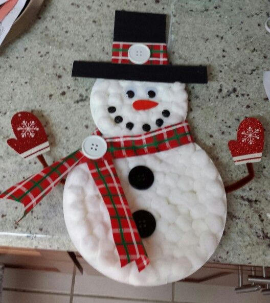 Paper Plate Snowman Project School Projects Snowman Crafts