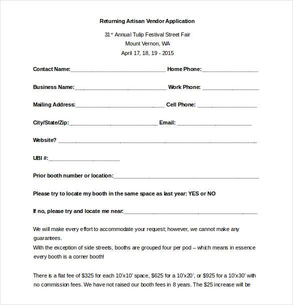 Image Result For Vendor Registration Form Template Templates