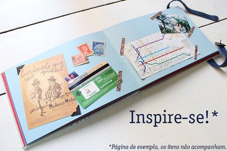 Livro para Memórias de Viagem - Itália - Lilou Estúdio