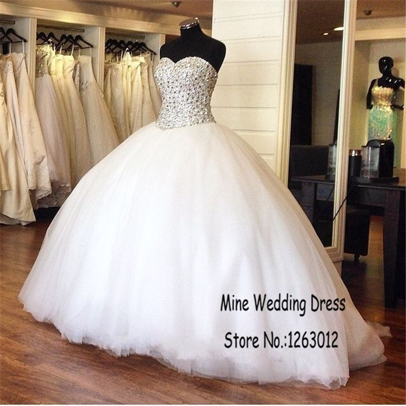 White Ball Gown Quality Bridal Directly From China Crystal Wedding Dresses Suppliers Silver Rhinestones Sparkling Beading