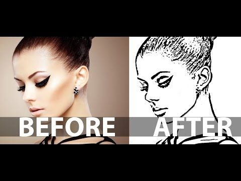Photoshop Photo Line Art Effect : How to create a line art from photo in photoshop drawing