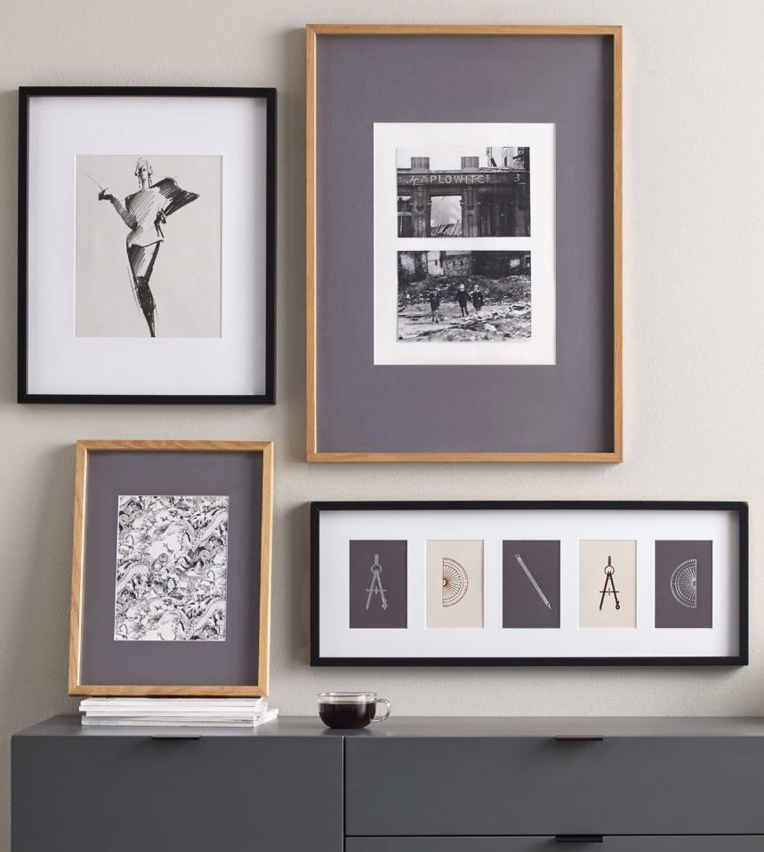 A Modern, Minimalist Frame For Your Photos And Art Prints. Made From Solid  Wood And Available In Black Or Oak.