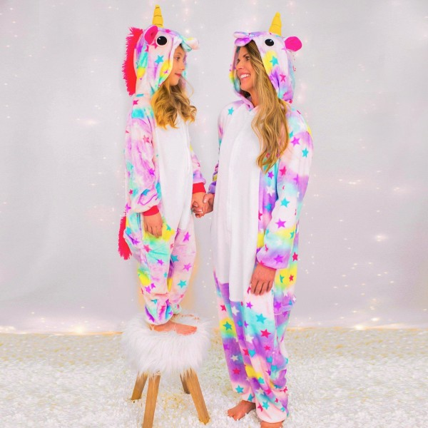Mommy Me Dream Unicorn Pajamas For Mother And Daughter Unicorn Onesie Kids Unicorn Onesie Pajamas Mommy And Me Outfits