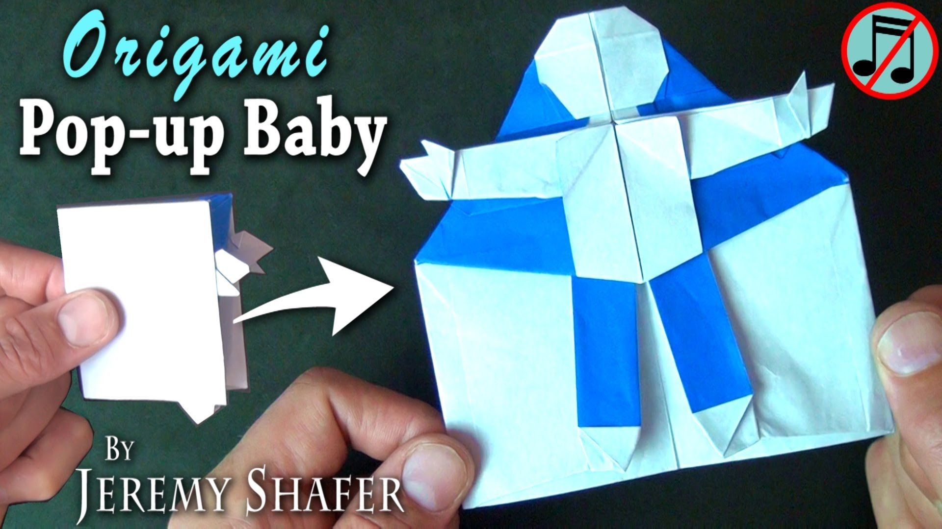 Origami Baby Pop-up Card (no music)