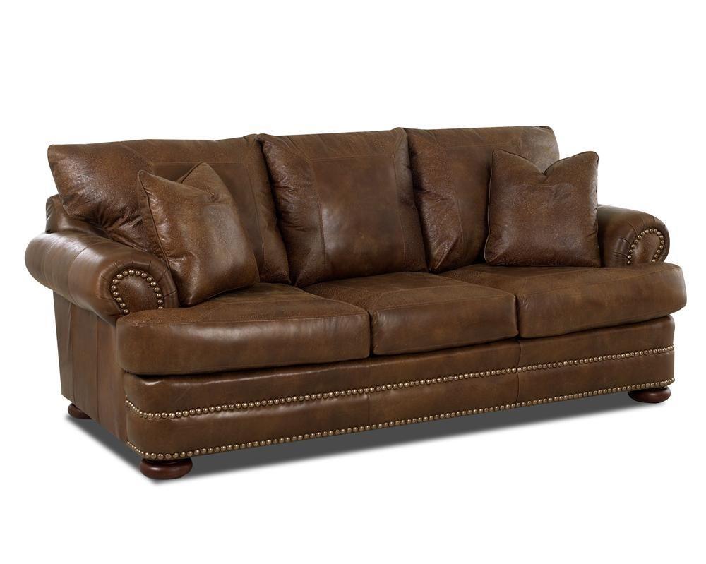 Montezuma Leather Studio Sofa By Klaussner At Steger S Furniture Hudson Furniture Furniture Superstore Furniture