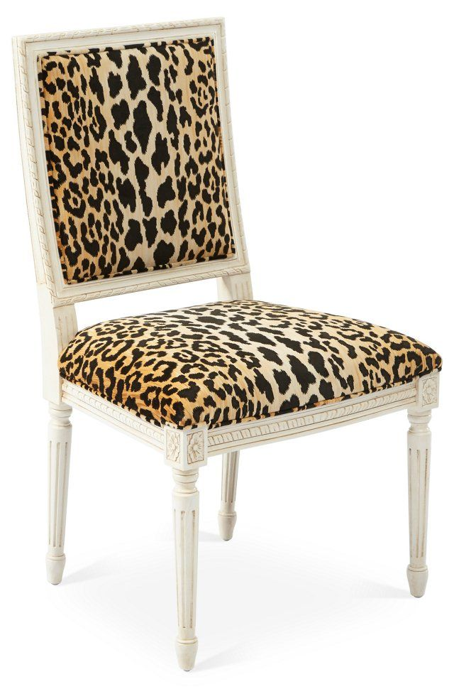 Exeter Side Chair Leopard With Images Side Chairs Hollywood