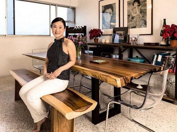 Meubles realwood bois naturel tropical chaise massif exotique table de travai - Table salle a manger bois exotique ...