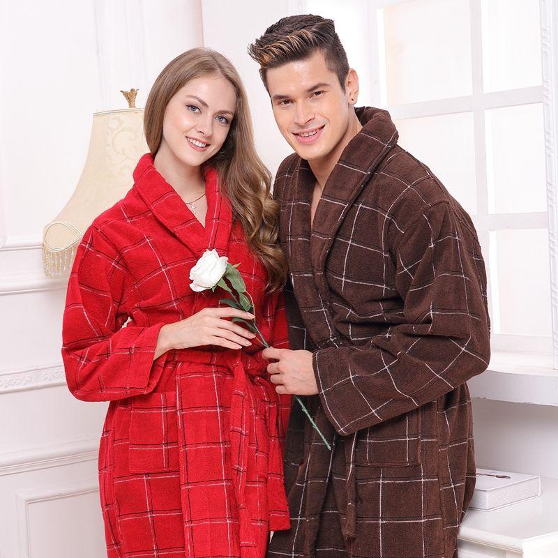 Cotton bathrobe women men nightgown sleepwear for girls towel blanket towel  robe thickening lovers long soft plus size winter 28ad8bf28