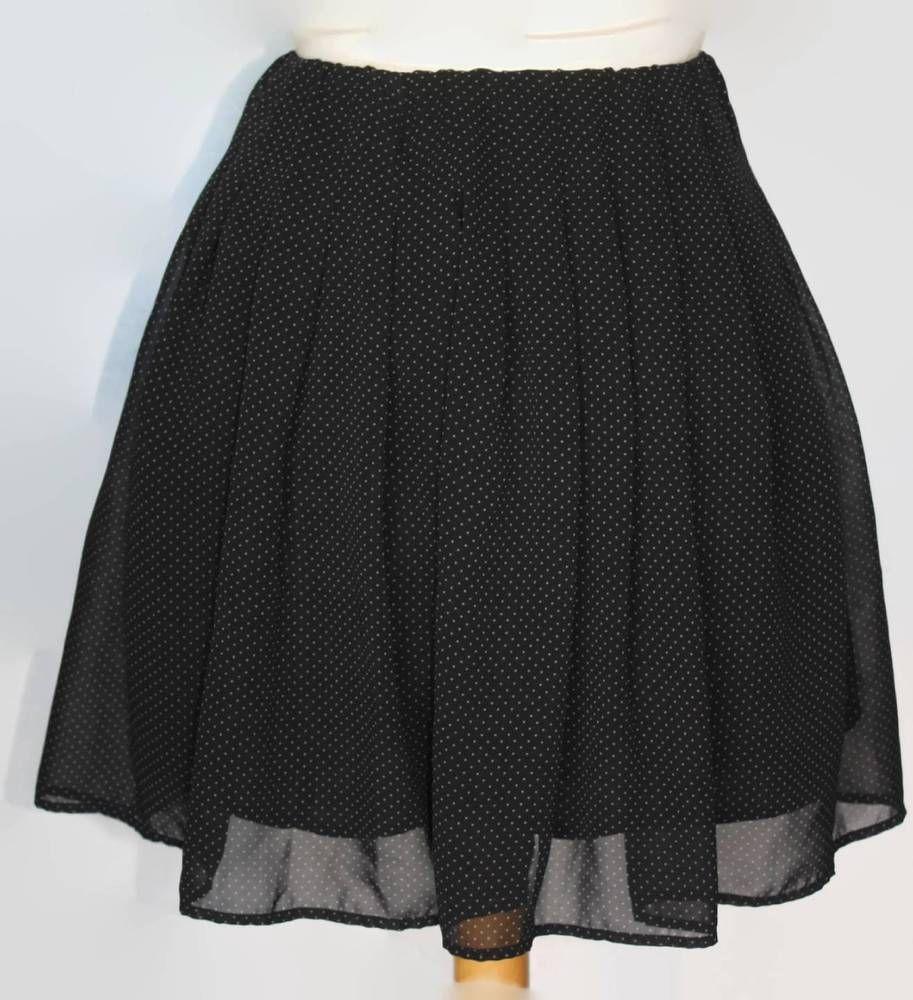 ab29b56ea8 Uni Qlo Black White Polka Dot Skirt Size XS | Cool Clothing | Polka ...