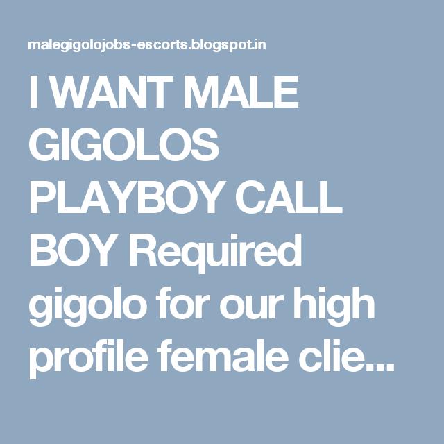 Gigolo call