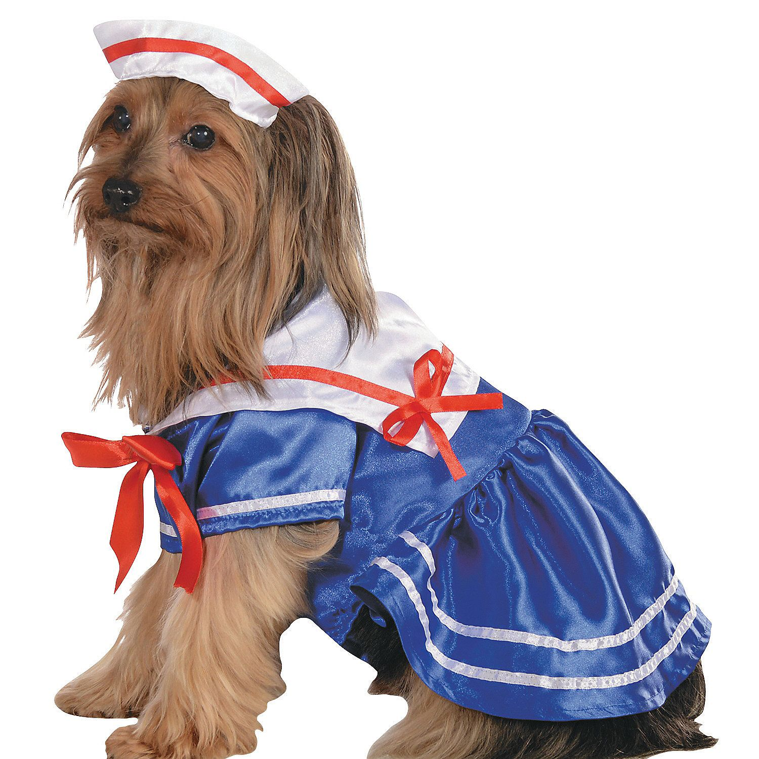 Sailor Girl Dog Costume - OrientalTrading.com