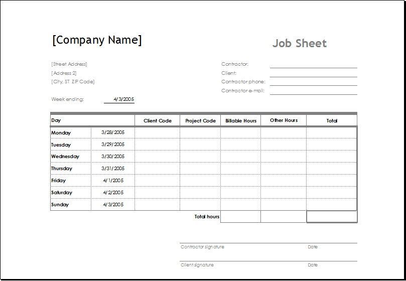 Pin By Maria Marie On Word Excel Templates Job Cards Service Jobs