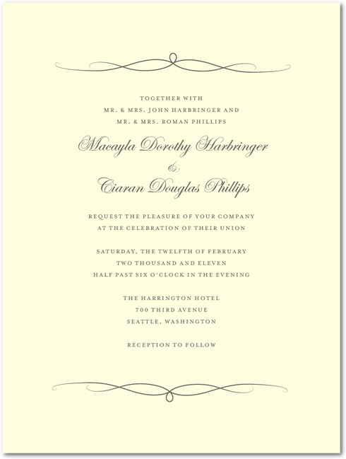 elegant ardorth charcoal 125 for 28750 within std postal size heavy bridal shower invitationsunique