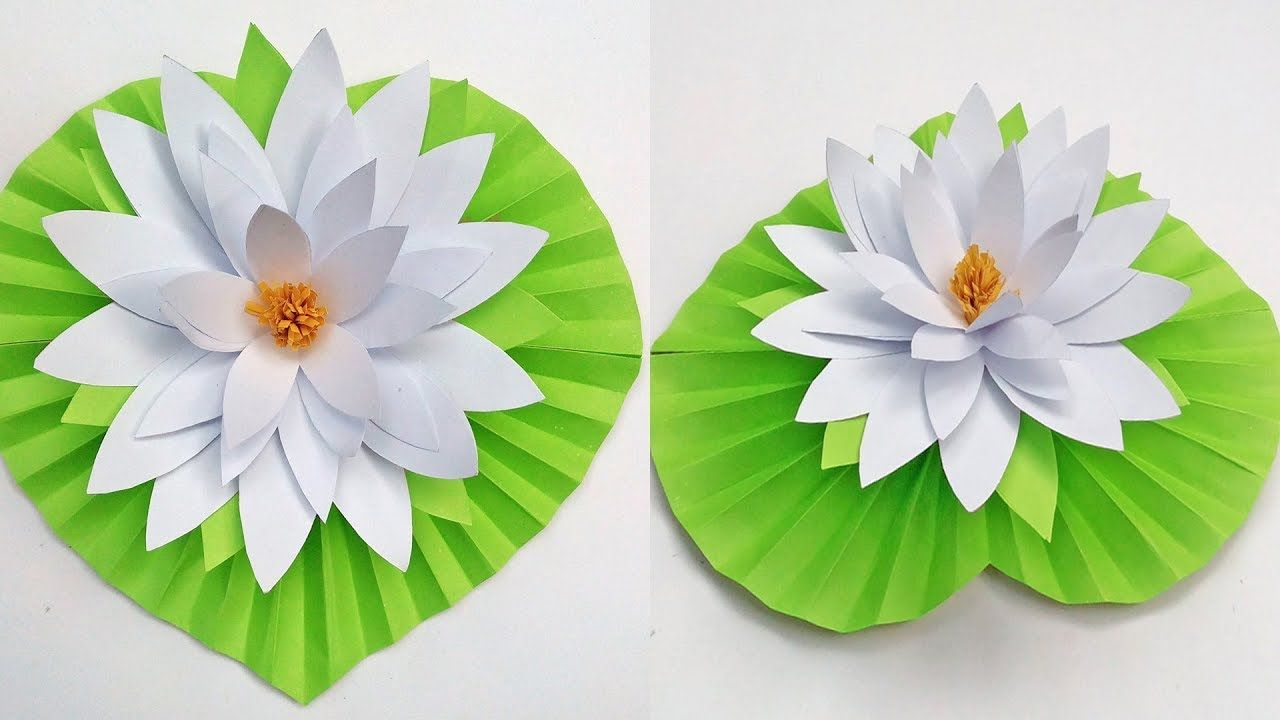 How To Make Water Lily Flower With Paper Diy Paper Water Lily