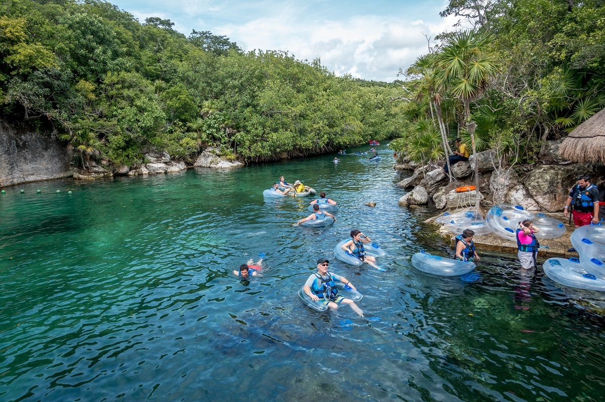 Tubing down the river is one of the best ways to spend time at Xel-Ha park
