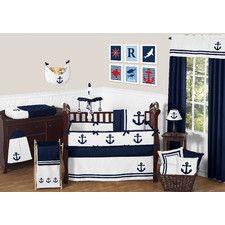 Anchors Away 9 Piece Crib Bedding Set