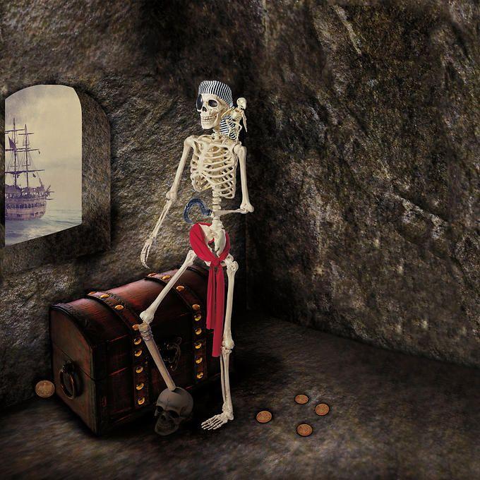 Pose-N-Stay Pirate Skeleton pirate Pinterest Pirate skeleton