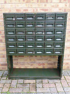 Vintage Industrial Metal Green Filing Cabinet Drawer Shelving Unit 36 Drawers Metal Drawers New Homes Shelving Unit