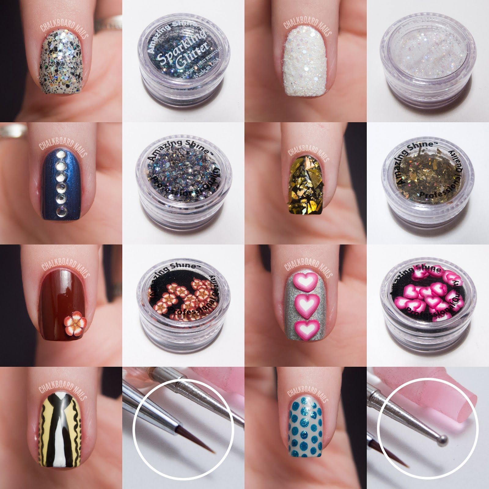 Amazing Shine Nail Art Kit Review | Nail art kits, Chalkboard nails ...