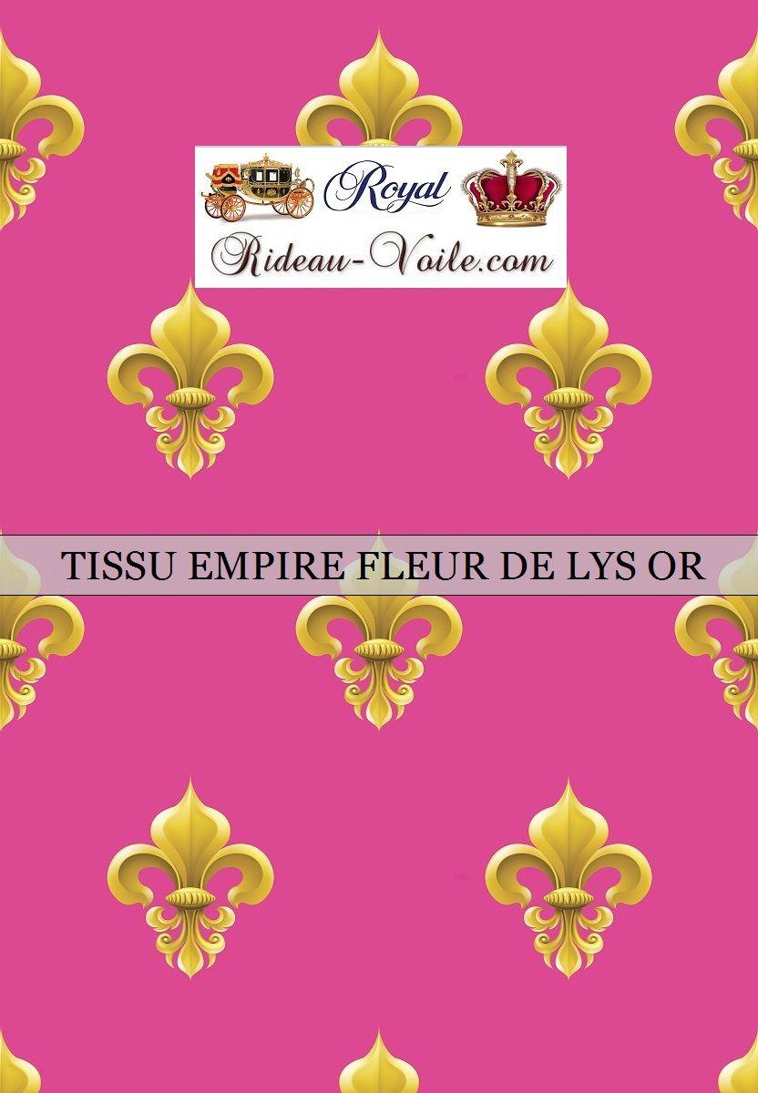 Motif Fleur de Lys Or tissu rose fushia #tissu#motif#style#empire ...