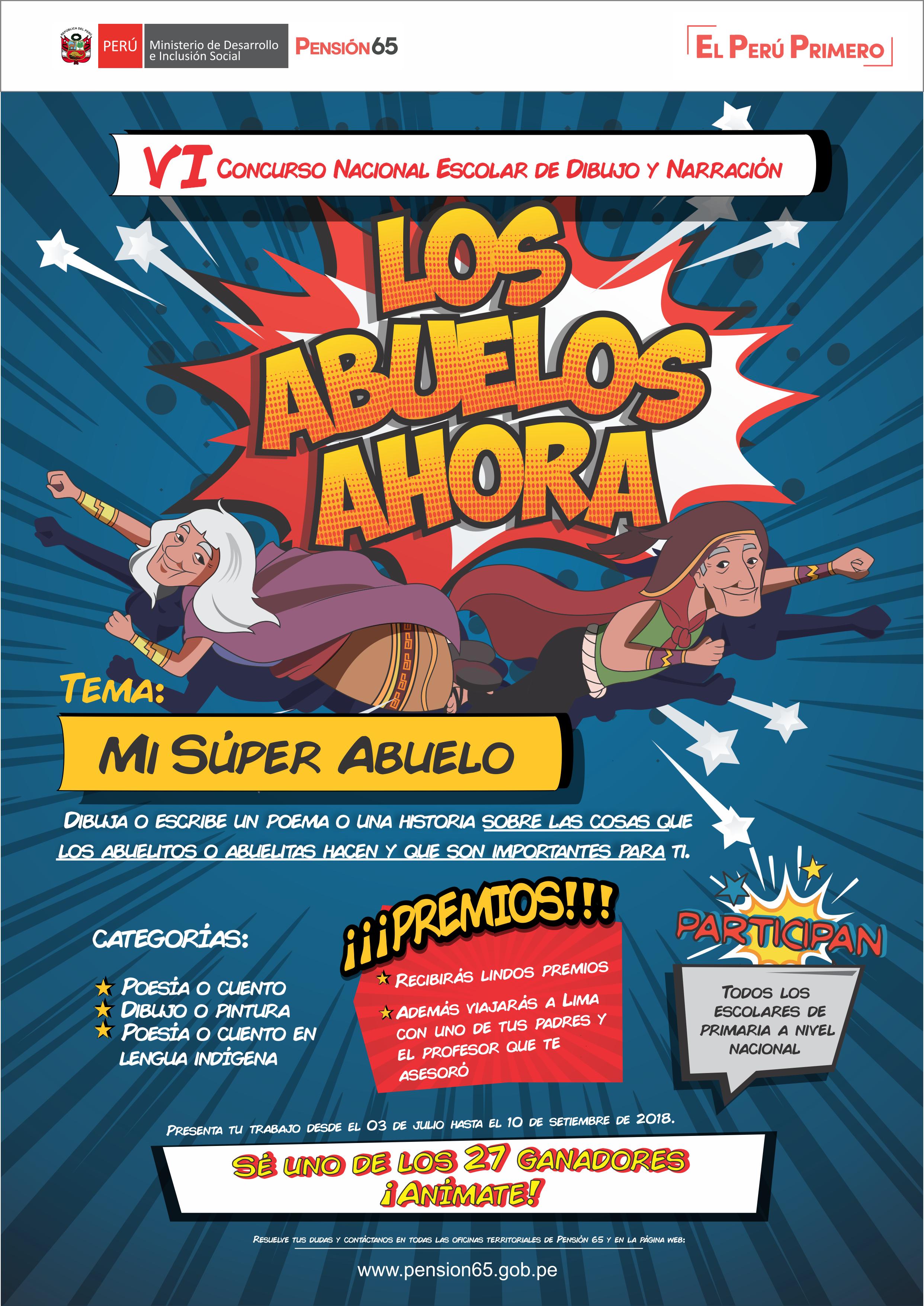 Afiche Del Concurso Nacional De Poesia Dibujo Y Pintura Los Abuelos Ahora Del Programa Pension 65 Comic Book Cover Books Comic Books