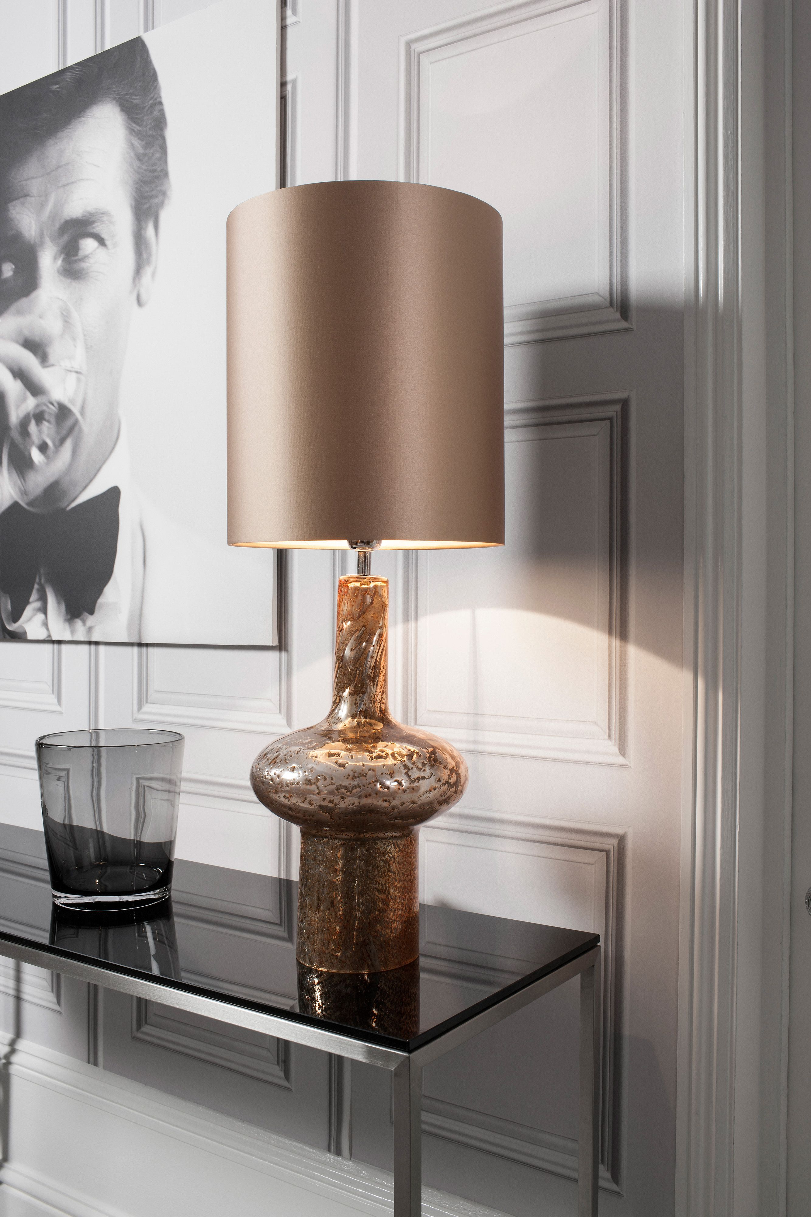 Glass table texture - Verdi Gold Table Lamp Featuring Mould Blown Glass With Volcanic Frit Lava And Marble Textures